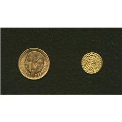 1945 Mexico 2 1/2 Pesos Gold and Reproduction Coin