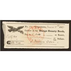 James Fennimore Cooper Autograph