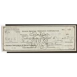 Thomas Alva Edison Autograph