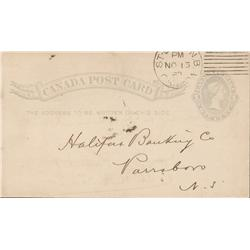 1882 Bank of New Brunswick Post Card