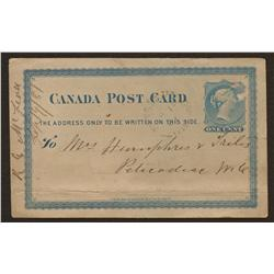 1881 Post Card Sussex Cancelation
