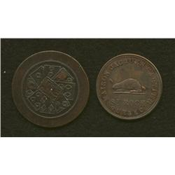 Lot of 2: H. Gagnon & Cie St. Roch & Montreal Tokens