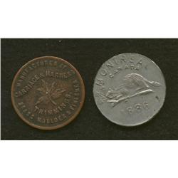 Lot of Two:  L.M Montreal. Lymburner Tokens