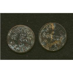 Lot of Two C.E.A. Langlois Tokens