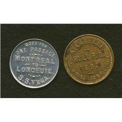 Wm. Sclater and A Labelle Tokens