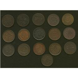 Lot of Sixteen Bouquet Sou Tokens