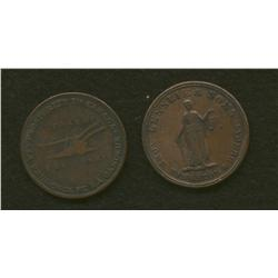 Lot of Two Lesslie & Sons Tokens