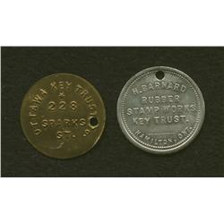 Lot of Two Tokens: Ottawa Key Trust & H.Barnard Hamilton