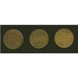 Lot of Three Tokens: C. Schmidt, H. Elmslie, G.A. Graham