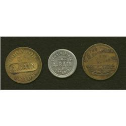 Lot of Three A. Bain Tokens