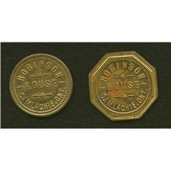 Lot of Two Robinson House Tokens