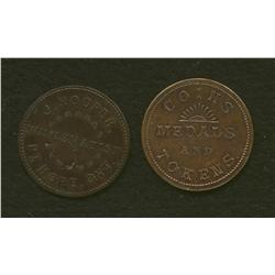 Lot of Two J.Hooper, Port Hope Tokens