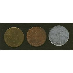 Lot of Three Stroud Bros. Tokens