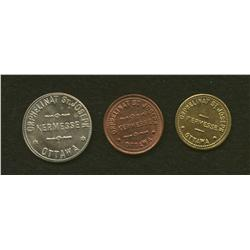 Lot of Three Kermesse, Ottawa Tokens