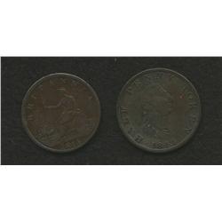 Nova Scotia Britannia 1814 & Nova Scotia Carritt & Alport Tokens