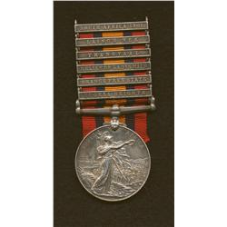 Queen's South Africa Medal (Type 2) with Six Clasps