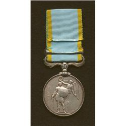 Crimea Medal with Sebastopol clasp named to W. Murray.