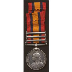Queen's South Africa Medal (Type 2) with Three Clasps