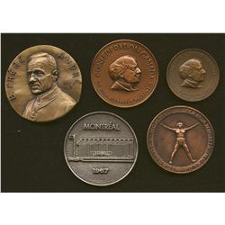 Lot of 5 Medals