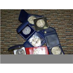 Lot of 7 Religious & Papal Silver Medallions
