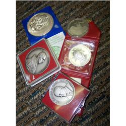Lot of Five Assorted Medals
