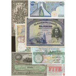 Mixed lot of world notes