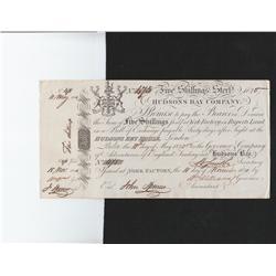 1820 Hudsons Bay Company Five Shillings