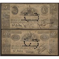 1835 Benjamin Smith 5 & 10 Shillings