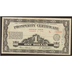Alberta Prosperity Certificate, 1936