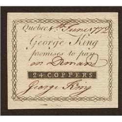 QC-200-10-12  George King - Quebec City, Quebec 24 coppers EF