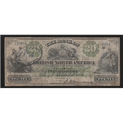 1877 British Bank of North America $20