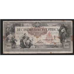 1917 Canadian Bank of Commerce $100