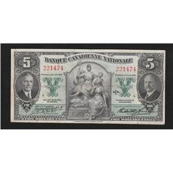 1935 Banque Canadienne Nationale $5