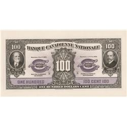 1929 Banque Canadienne Nationale $100 Lot of two