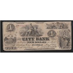 1857 City Bank $4