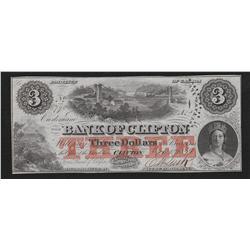 1859 Bank of Clifton $3