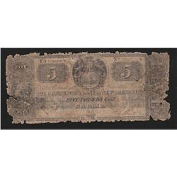 1857 Commercial Bank of New Brunswick 5 Pounds