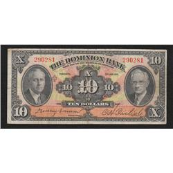 1935 Dominion Bank $10