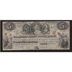 1849 Farmer's Joint Stock Bank $5