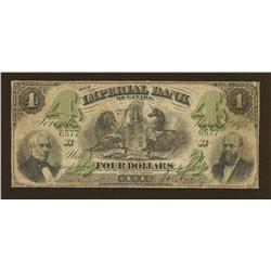 1875 Imperial Bank $4