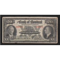 1935 Bank of Montreal $10 & $20 - Lot of 2