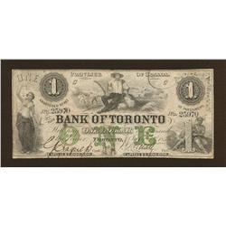 1859 Bank of Toronto $1