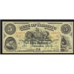 1923 Bank of Toronto $5