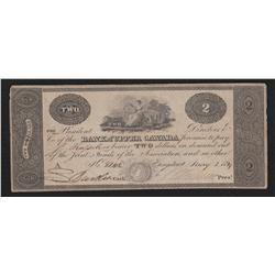 1819 Bank of Upper Canada $2
