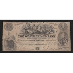 1854 Westmorland Bank $4