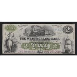 1861 Westmorland $2