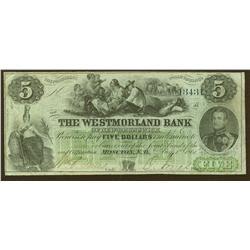 1861 Westmorland $5
