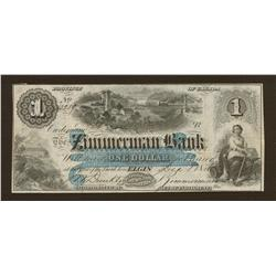 1856 Zimmerman Bank $1