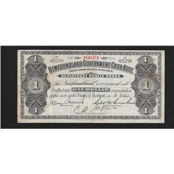 1903 Newfoundland One Dollar Cash Note