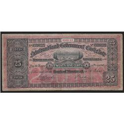 1911-12 Newfoundland 25 Cents Cash Note